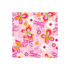 Butterfly Floral Fleece Throw Kit, Pink