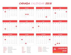 2018 Holidays Calendar Canada 12 Month Calendar With Canada Federal Bank Governments Holidays List January To December Each Month Important Dates Days Mentioned Calendars Templates 2018 Holiday Calendar, 12 Month Calendar, Calendar 2018, Important Days And Dates, Canada Calendar, Canada Holiday, January February March April, Holiday List, Desk Calendars