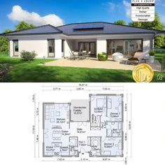 Bungalow House Plans with One Level Modern Contemporary European Style Architecture Design Floor Plan Bungalow SH 169 WB Small Modern House Plans, Beautiful House Plans, Contemporary House Plans, Modern Contemporary, Modern Bungalow House Plans, Bungalow Floor Plans, Modern Floor Plans, One Floor House Plans, House Layout Plans