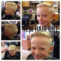 boy's 50's hair style pompadour with buzz sides #50's #boyshaircut