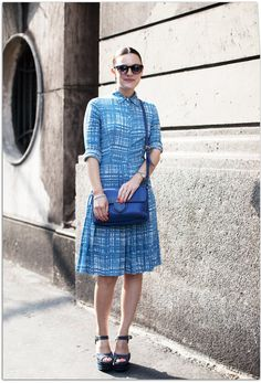 Gorgeous dress - reminds me to wear my (non-Prada) shirt dress with pretty heels.