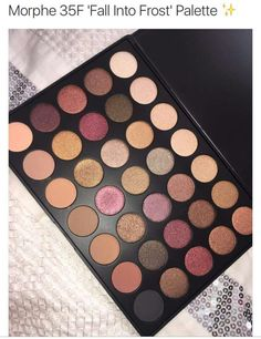Morphe Eyeshadow Palette - Fall Into Frost Eye Make Up Palette? Kiss Makeup, Love Makeup, Makeup Inspo, Makeup Inspiration, Makeup Style, Makeup Ideas, Makeup Morphe, Makeup Brushes, Make Up Palette