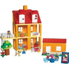 0100dfffbbe97 Amazon.com  LEGO Education DUPLO Playhouse Set 779091 (125 Pieces)  Toys    Games