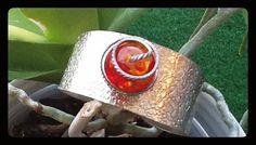 Silver  bracelet with semi precious stone..  one size by Schoolery, $92.00