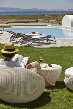 4 + 1 Bedroom Villa in Plaka area in Naxos! Proud member of Naxos Premium Outdoor Furniture, Outdoor Decor, Breeze, Swimming Pools, Ottoman, Bbq, Aqua, Villa, Luxury