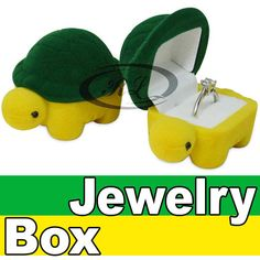 Cute Turtle Engagement Wedding Ring Box Earrings Pendants Jewelry Gift case *M66