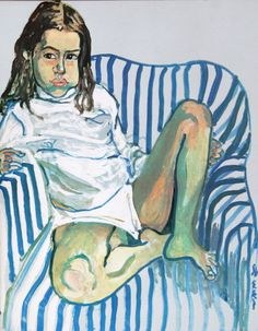 Alice Neel's stripped armchair, with a girl in it