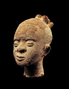 Memorial head Date: 17th century Geography: Ghana, Twifo-Heman traditional area Culture: Akan peoples Medium: Terracotta