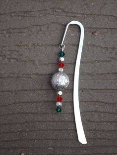 Red, Green and Silver Bookmark