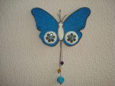 keçe mavi kelebek