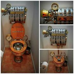 Do you want to have your own steampunk bathroom as in an alternative world described by the books of Terry Pratchett and Jules Verne? By the end of this article you would definitely be a master in steampunk decor and Casa Steampunk, Steampunk Design, Steampunk Cosplay, Gadgets Steampunk, Wc Decoration, Steampunk Bathroom, Steampunk Kitchen, Cool Stuff, Storage