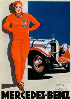 Mercedes Benz 1928 Woman In Red Vintage Poster Art Print Retro Style German Car Advertisement Free US Post Low EU post by VintagePosterPrints on Etsy Vintage Advertisements, Vintage Ads, Vintage Posters, Mercedes G Wagon, Mercedes Benz Cars, Pin Up, Carl Benz, Daimler Benz, Classic Mercedes