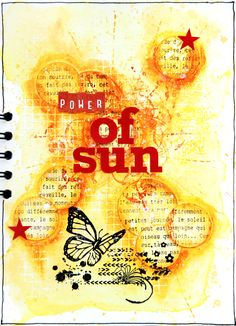<3 Beautiful Art Journal Page by Shannon