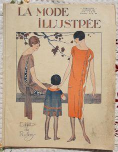 Art Deco fashion https://www.etsy.com/listing/190744002/la-mode-illustree-paris-french-fashion?ref=shop_home_active_1