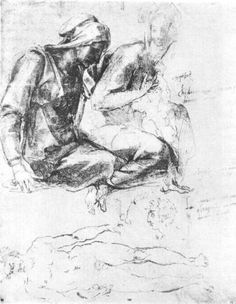 """artist-michelangelo: """"Study to """"Madonna and Child with St.John the Baptist"""" via Michelangelo Buonarroti Medium: chalk, paper"""" High Renaissance, Anatomy Poses, Peter Paul Rubens, St Anne, Madonna And Child, Michelangelo, Western Art, Les Oeuvres, Art History"""