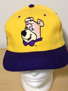 e615b685f56 American Needle Boo Boo Bear Yogi Cartoon Blockhead Snapback Hat Cap on  Etsy