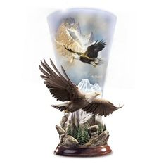 Vivid Arts American Bald Eagle Resin Ornament Indoor Outdoor Garden Ornament Gif