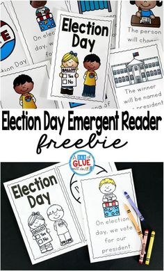 The Presidential Election will be here before we know it . Since this is a very important event for the United States that only happens every four years, it is important to discuss and educate even the littlest of learners. I always love combining social studies with literacy so I created an Election Day Emergent Reader. It is perfect for preschool, kindergarten, and first grade students.