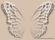 butterfly wings tattoo design