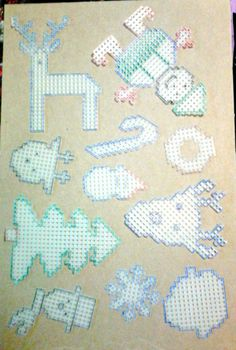 Christmas cut outs plastic canvas