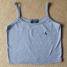 Ralph Lauren polo spaghetti strap low tank top