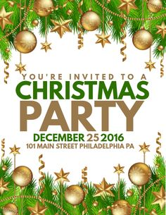 Christmas Party Poster Template.  Christmas Poster Template