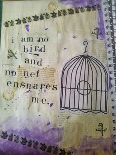 using a quote in your art journal #brontë #artjournal #scrapbook