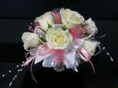 white pearl wrist corsage item no c 4 wrist corsage made of white ...
