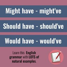 """Learn how to use this common English grammar right away with real examples. """"The bus SHOULD HAVE arrived 10 minutes ago."""" Sound like a native! Learn English Grammar, Learning English, English Time, Improve English, Being Used, Helping People, Vocabulary, Told You So, Language"""
