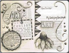 journal pages, moleskine | Pam Carriker | Flickr