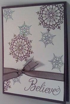 Stampin'Up! Snowflake Soiree Christmas Card  www.creatingforgrace.com