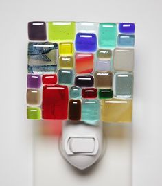 grayc glass | Handmade Fused Glass Art & Custom Glasswork »handmade fused glass mosaic nightlight