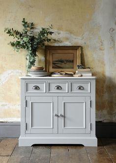 From The Cotswold Company. Free Delivery & Free Returns. Grey Painted Sideboard with Marble Top, Modern Country Style, Country Home.