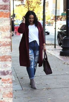 A Shoppable Inspiration Guide to Plus-Size Fall Fashion A Shoppable Inspiration Guide to Plus-Size Fall Fashion,Fall and winter outfits! 17 Perfect Plus-Size Fall Fashion Pieces and Outfit Ideas Curvy Outfits, Mode Outfits, Fall Outfits, Fashion Outfits, Fashion 2018, Fashion Clothes, Fashion Jewelry, Trendy Outfits, Plus Size Fall Outfit