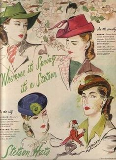 1940s hats women Glorious Spring looks #judithm