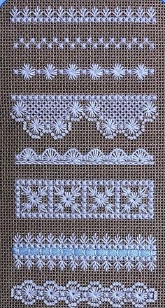 Beautiful embroidery on evenly woven linen - . Beautiful embroidery on evenly woven linen – # smoothly Hardanger Embroidery, Hand Embroidery Stitches, Embroidery Techniques, Ribbon Embroidery, Cross Stitch Embroidery, Embroidery Patterns, Butterfly Embroidery, Lace Ribbon, Modern Embroidery
