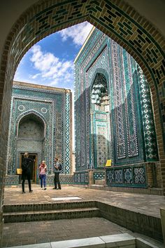 Shah-i-Zinda ('The Living King') is a necropolis in the north-eastern part of Samarkand, Uzbekistan.