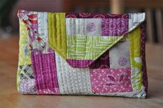 Free Purse Pattern and Tutorial - Quilt-as-you-go Envelope Pouch