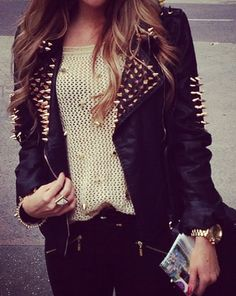 Studs.... not a huge fan but this is is edgy over the top...but wonderful.