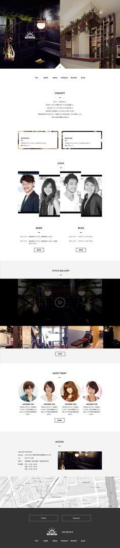 kunnmatsuさんの提案 - 【コーディングなし】ヘアサロンのサイトリニューアル。TOPデザインの募集 | クラウドソーシング「ランサーズ」