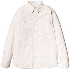 Carhartt + A.P.C. L/S New Clink Shirt (White / Stone Washed)