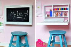Flip Down Wall Art Desk