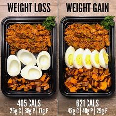 meal prep plans Weight Loss vs Weight Gain with Hamburgers and Sweet Potato Fries. If you need any recipes for meal prepping on this Meal Prep Sunday visit Sunday Meal Prep, Lunch Meal Prep, Meal Prep For The Week, Easy Meal Prep, Healthy Meal Prep, Healthy Eating, Healthy Recipes, Keto Meal, Meal Recipes