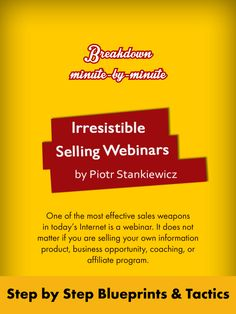 One of the most effective sales weapons in today's Internet marketing is a webinar. It does not matter if you are selling your own information product, business opportunity, coaching, or affiliate program. ValuedMarketer Magazine October 2013. Download ValuedMarketer app on iTunes https://itunes.apple.com/us/app/valuedmarketer-magazine-become/id709724297?l=pl&ls=1&mt=8