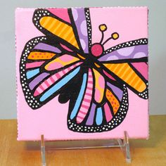 Butterfly Painting - Girls Room Decor. $25.00, via Etsy.