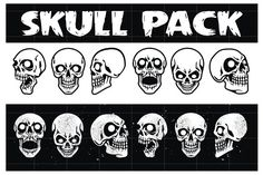 SKULL HEAD PACK by arace on @creativemarket