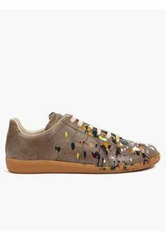 22 Men s Pollock-Effect Leather Sneakers Robe Mondrian, Maison Martin  Margiela, Vogue Hommes d7049a9a6f9b