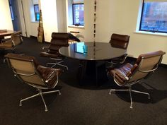 Richard Wright, of http://www.wright20.com/, has sold thousands of chairs, but he chooses EAMES SOFT PAD CHAIRS for his own office.