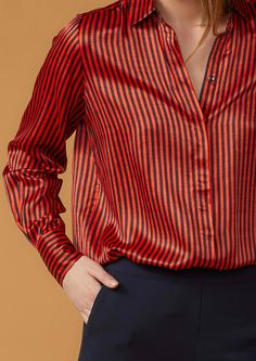 Twist & Tango | Paige Blouse  - Red Stripe