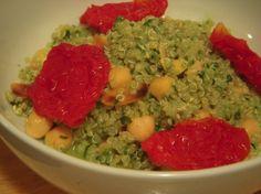 Lemon Quinoa With Fresh Pesto